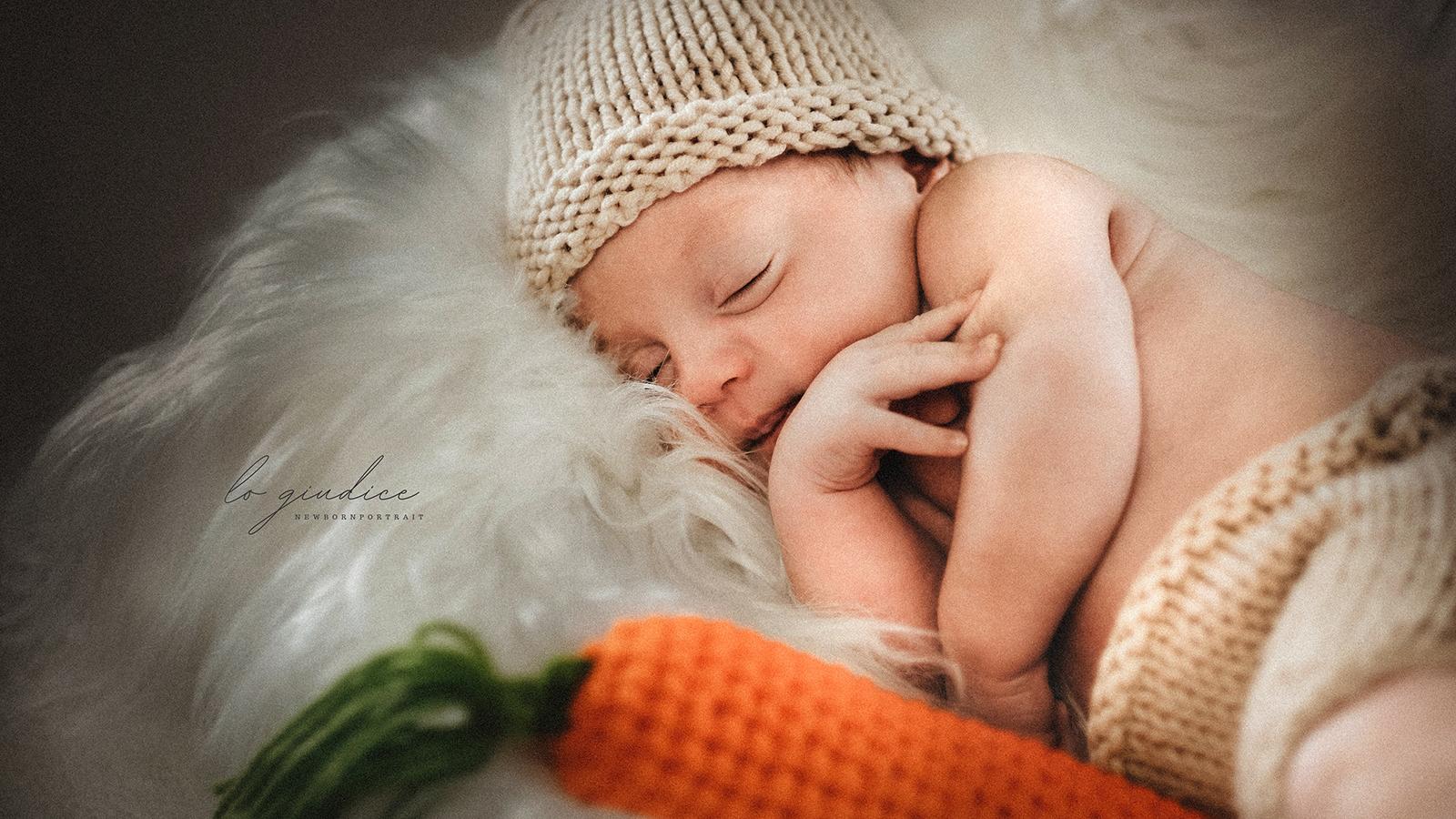 foto bambino che dorne