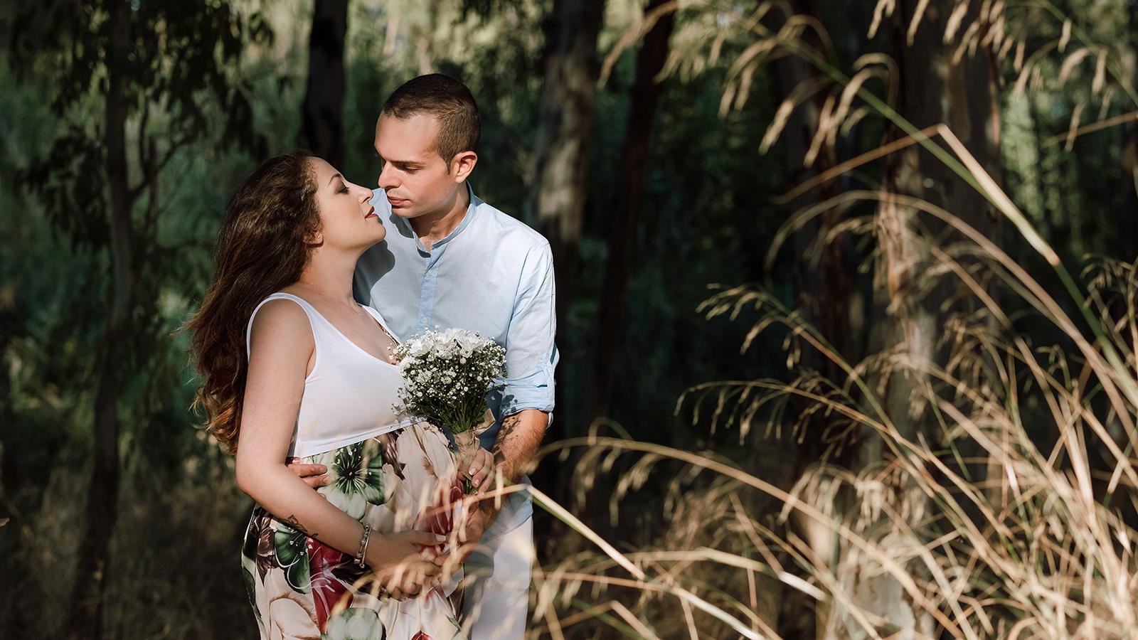 foto sposi immersi nella natura