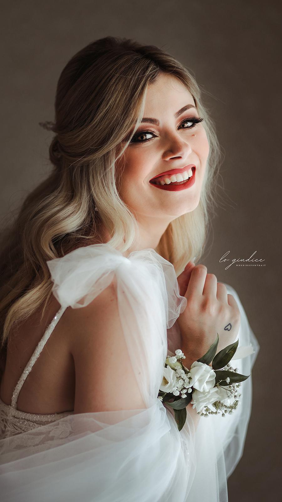 foto sposa sorridente