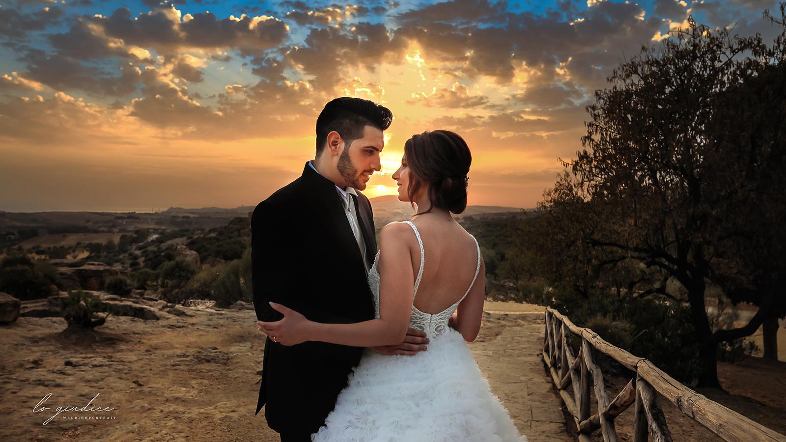 foto sposi in campagna